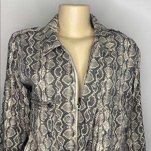 NWT BLACKNYC snake print jacket size medium
